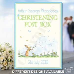 Guess How Much I Love You Christening Post Box Postbox Sweetie Welcome to Sign
