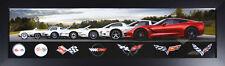 Corvette Generation Evolution Framed Print