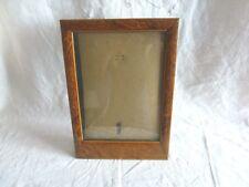 ancien cadre porte photo a poser bois loupe avec vitre 1930 art deco