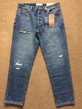"NEXT Men's Slim Tapered Blue Ripped & Repaired Denim Jeans, 34R, W34"" L31"", £40"