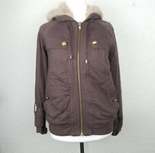 Marc by Marc Jacobs Women hoodie size S brown cotton fur full zipped long sl-vs