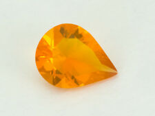 .9ct Light Orange Faceted Pear Mexican Jelly Opal (MO101)