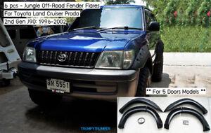 Jungle Fender Flares Wheel Arches TOYOTA LAND CRUISER Prado J90 96-02 5 Doors