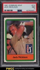 1981 Donruss Golf Jack Nicklaus #13 PSA 7 NRMT