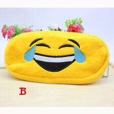 Velvet Expression bag Pencil Pen Case Cosmetic Makeup Travel Pouch Bag Yellow