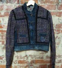 DESIGUAL Denim & Boucle Jacket Size EU 42 / Medium