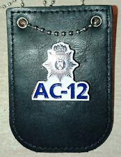 Obsolete AC12 Central Police TV drama  badge/holder very rare