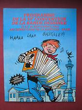 DENIS CESTAC  PROGRAMME XIV EME CONVENTION DE LA BD 1982 PARIS BASTILLE TTBE