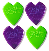 Kirk Hammett Jazz III - Green & Purple Sampler - 4 Dunlop Picks Lot