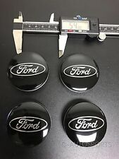 4Pcs BLACK CENTER WHEEL HUB CAPS EMBLEM COVER CAP Fit for FORD CP9C-1A096-AA