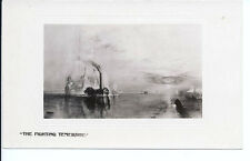 The Fighting Temeraire 1838 painting by Turner British Ship Real Photo Postcard