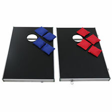 Cornhole Bean Bag Toss Game Set Aluminum Frame with 8 Bean Bags W/Carrying Case