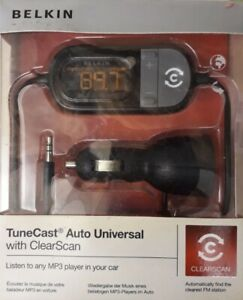 BELKIN Tunecast 3.5MM Jack To FM Radio TRANSMITTER FOR IPhone SMART PHONE MP3