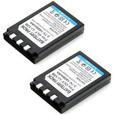 2x 3.7v 1400mAh Li-ion Battery for Olympus LI-10B LI-10C LI-12B Digital Camera