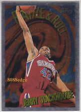 1995-96 TOPPS RATTLE & ROLL: JERRY STACKHOUSE #R9 SIXERS ROOKIE FOIL INSERT