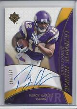 PERCY HARVIN 2009 ULTIMATE COLLECTION ON CARD TRUE RC AUTO #D 186/399