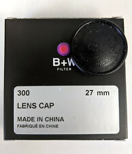 New Schneider / B+W 27MM Push-On LENS CAP Plastic Front Cover # 65-069691