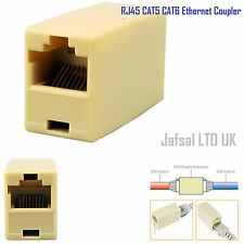 Rj45 Cat5e Cat6e Recto acoplador Carpintero Red Ethernet Lead Cable Conector