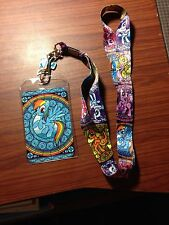 My Little Pony Stained Glass Pony ID Lanyard W/Charm License Name Bag Holder