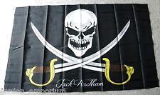 JOHN RACKHAM PIRATE CALICO JACK CARIBBEAN PIRATES POLYESTER FLAG 3 X 5 FEET NEW