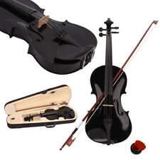 4/4 Full Size Acoustic Violin Fiddle Black with Case Bow Rosin Christmas Gift