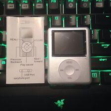 MP3 Player lettore, espansione memoria con sd memory card, argento, USB