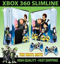 Xbox 360 Slim méprisable Me gru famille Agnes Autocollant peau & 2 contrôleur skins
