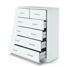 Artiss FURNI-NEW-DT-WH-AB Tallboy 6 Drawers Storage Cabinet - White