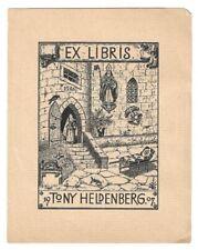 P. KLAPPER: Exlibris für Tony Heldenberg, mittelalterliche Burg, 1907