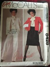 NEW/UNCUT + VINTAGE 1983 MC CALL'S SUIT SEWING PATTERN 8428-SIZE 10-83CM BUST
