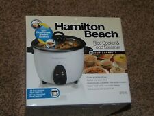 NEW! HAMILTON BEACH 16-CUP RICE COOKER & FOOD STEAMER(RM2-SHELF)