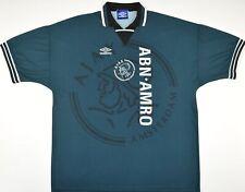1995-1996 AJAX UMBRO AWAY FOOTBALL SHIRT (SIZE XL)