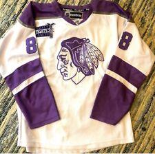 Chicago Blackhawks Hockey Fights Cancer Purple Patrick Kane Jersey Size 52