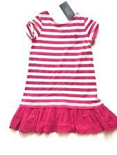 NWT! Polo Ralph Lauren Girls Dress Size 4 Pink & White Striped Dress