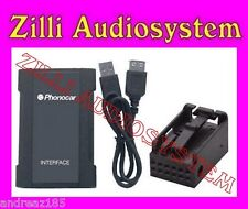 PHONOCAR 5/854 AUX IN USB SD CARD MP3 X Peugeot BLK RD4 Nuova