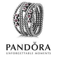 Pandora 💍 NEW Bague Ring 💍 190863RHL Rhodolite Argent Silver Size Taille 48