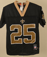 Reebok New Orleans Saints Jersey  25 Reggie Bush NFL Youth Small (8) Black 752aabce3
