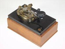 Vintage Abbott Import Radio Telegraphy Key Retro Morse Code Clicker Kids Toy