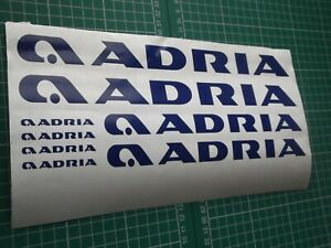 ADRIA  CARAVAN MOTORHOME 8 PIECE KIT  STICKER CHOICE OF COLOURS