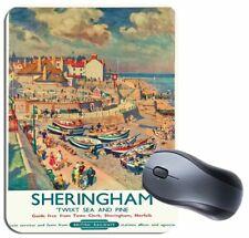 Sheringham Vintage Railway Poster Mouse Mat. Norfolk Train Travel Mouse Pad Gift