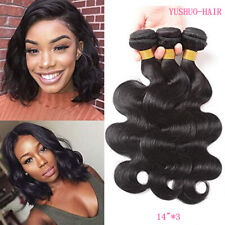 3Bundles Virgin Body Wave 150g Real Human Hair Extensions Malaysian Weave Weft