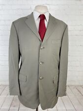Pronto Uomo Men's Gray Solid Wool Suit 40R 35X27 $448