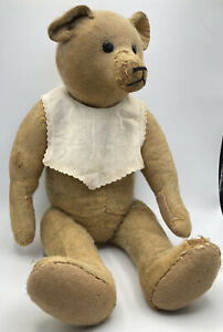 Antique German Teddy Bear Shoe Button Eyes Straw Filled 20""