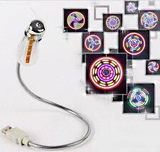 VENTILATEUR USB pour PC,Portables - Mini VENTILATEUR à LEDs CLIGNOTANTES