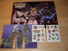 Nintendo Pokemon Platinum Version Promo Fun Pack Stickers Keyring A4 A2 Poster