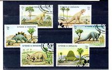 Santo Tome y Principe Fauna Prehistorica Dinosaurios año 1982 (BJ-332)
