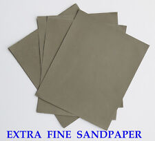 """6 sheets EXTRA FINE Sandpaper Wet  Dry 3""""x 5 1/2"""" COMBO 3000/5000/7000 Grit"""