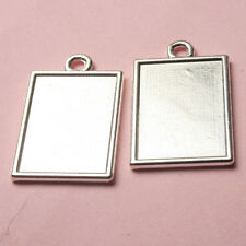 6pcs silver tone  2sided rectangle picture frame h3993