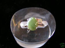 Sterling Silver Oval stone Jade Ring Gold Plated #2