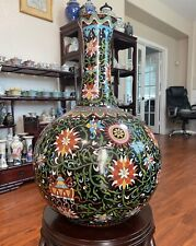 A Large Antique Chinese Cloisonne Tian Qiu Vase 20.5� H